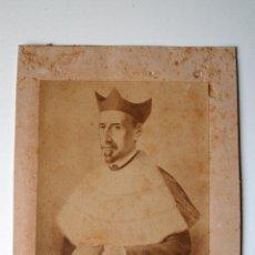 Fotografía antigua: FOTOGRAFIA ANTIGUA DE UNA PINTURA RETRATO DE BARTOLOME LLULL, FUNDADOR DE LA SAPIENCIA. Lote 43958711