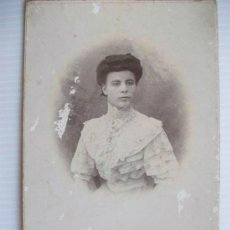Fotografía antigua: FOTO DE ESTUDIO DE UNA SEÑORITA . 1907. 10 X 16 CM.. Lote 44003262