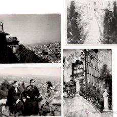 Fotografía antigua: LOTE DE 4 FOTOGRAFIAS CHICAS EN GRANADA Y LA ALHAMBRA - VIRGEN TRAS REJA Y CRISTAL - AÑOS 40. Lote 44089433