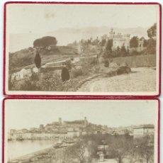 Fotografía antigua: 2 FOTOS ALBUMINA CANNES, 1900. Lote 44252114