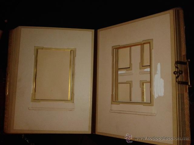 Fotografía antigua: Bonito album para fotografias antiguas pintado. Modernista Señora cogiendo uvas. - Foto 3 - 44375227