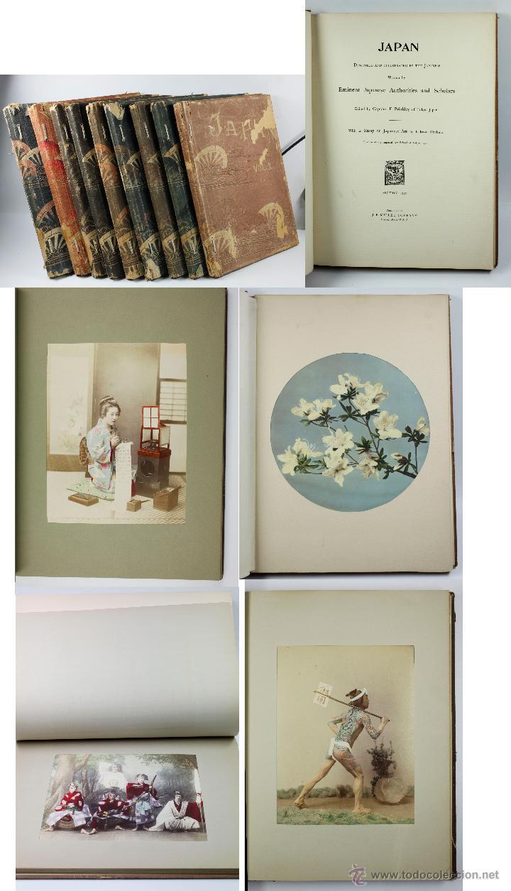 JAPAN,1897-98, BRINKLEY, EDITION DE LUXE. MÁS DE 200 ALBÚMINAS Y 9 COLLOTIPOS. 9 ÁLBUMES. VER FOTOS (Fotografía Antigua - Albúmina)