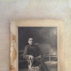 Fotografía antigua: ANTIGUA FOTOGRAFIA DE SOLDADO PRINCIPIOS DE 1900. Lote 44812409