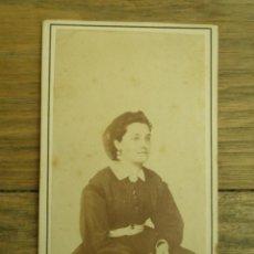 Fotografía antigua: ANTIGUA FOTOGRAFÍA ALBÚMINA EN CARTÓN . 10 CM X 6 CM . . Lote 45145400