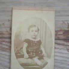 Fotografía antigua: ANTIGUA FOTOGRAFÍA ALBÚMINA . 10 CM X 6 CM . ( VER FOTO ADICIONAL ).. Lote 45177551
