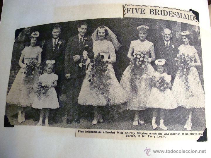 Fotografía antigua: ANTIGUO ÁLBUM DE FOTOS CON REPORTAGE DE BODA 1958 FAMILIA LOVITT Y CLAYTON - Foto 7 - 45232980