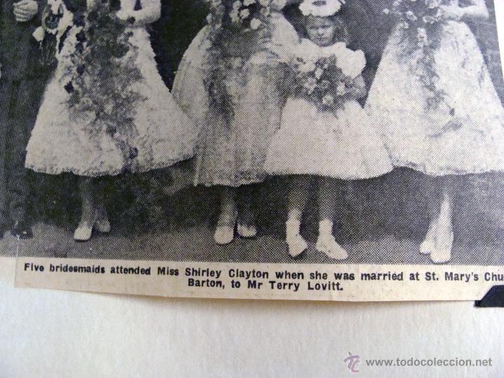 Fotografía antigua: ANTIGUO ÁLBUM DE FOTOS CON REPORTAGE DE BODA 1958 FAMILIA LOVITT Y CLAYTON - Foto 8 - 45232980