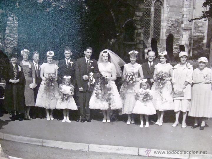 Fotografía antigua: ANTIGUO ÁLBUM DE FOTOS CON REPORTAGE DE BODA 1958 FAMILIA LOVITT Y CLAYTON - Foto 9 - 45232980