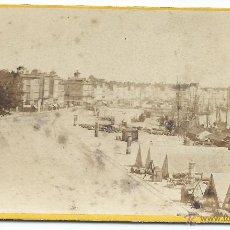 Fotografía antigua: FOTO ALBUMINA BURDEOS, PANORAMICA DEL PUERTO, 1900 . Lote 45256074