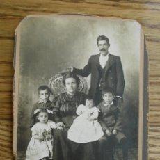 Fotografía antigua: ANTIGUA FOTOGRAFÍA ALBÚMINA . 14 CM X 11 CM . . Lote 45347250
