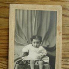 Fotografía antigua: ANTIGUA FOTOGRAFÍA ALBÚMINA . 14 CM X 9 CM . FOTOGRAFO. ( MADRID ).. Lote 45347641