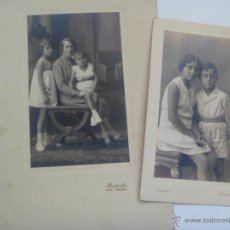 Fotografía antigua: LOTE 2 FOTOS NIÑO CON PANTALON CORTO Y FAMILIA. DE DUARTE , OVIEDO . 15 X 22 CM.. Lote 45434026