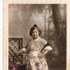 Fotografía antigua: VALENCIA. FALLERA. FOTO COLOREADA. FEBRERO 1929. Lote 53869671