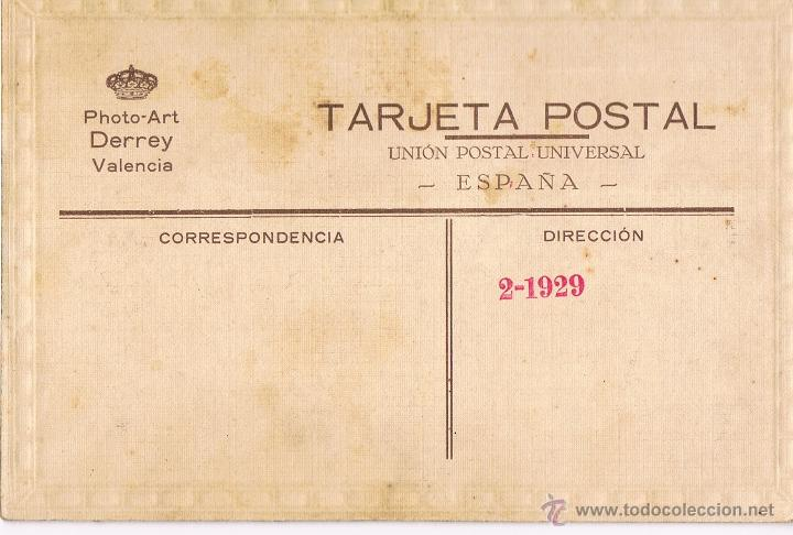 Fotografía antigua: VALENCIA. FALLERA. FOTO COLOREADA. FEBRERO 1929 - Foto 2 - 53869671
