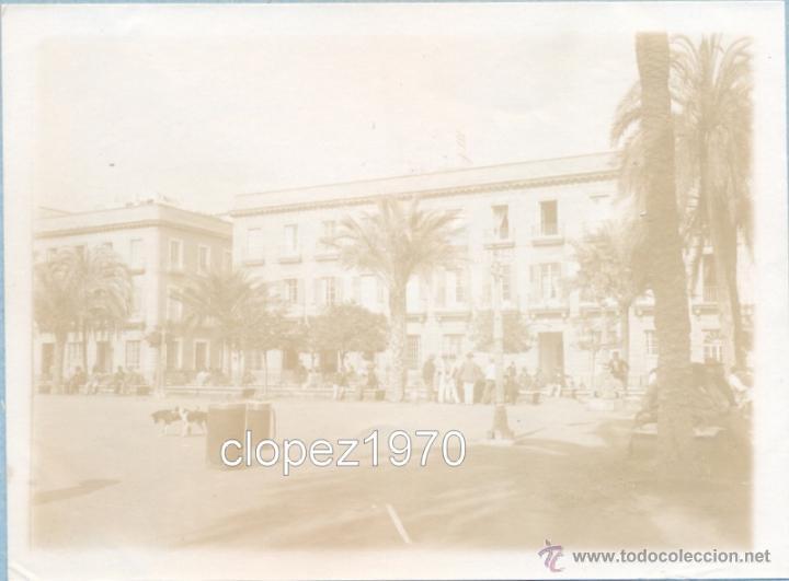 SEVILLA, SIGLO XIX, ALBUMINA PLAZA DE SAN FERNANDO,120X90MM (Fotografía Antigua - Albúmina)