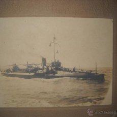 Fotografía antigua: FOTOGRAFIA ALBUMINA AÑO 1913 BARCO DE GUERRA ESPAÑOL,FOTOGRAFIA QUIJANO SAN FERNANDO CADIZ.. Lote 45805630