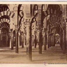 Fotografía antigua: CÓRDOBA. 307 BIS. VISTA INTERIOR DE LA MEZQUITA O CATEDRAL. LAURENT. ALBÚMINA . Lote 45921191