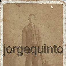 Fotografía antigua: FOTOGRAFIA. HOMBRE. J. OLIVARES. MURCIA.. Lote 45097173