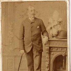Fotografía antigua: RETRATO DE PERSONAJE DEL SIGLO XIX A. RODRIGUEZ FOTÓGRAFO. SEVILLA.. Lote 46220231