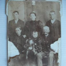 Fotografía antigua: RETRATO DE FAMILIA .SIGLO XIX..... 10 X 16 CM.. Lote 46245305