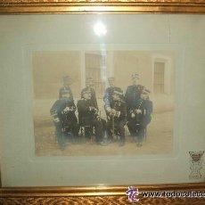 Fotografía antigua: MADRID MILITARES GRUPO DE OFICIALES DE INTENDENCIA (CORONELES Y CAPITANES) VERONES FOTOG HACIA 1900 . Lote 46380986