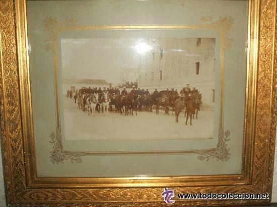 ZARAGOZA MILITARES INTENDENCIA FORMADOS PARA MANIOBRAS FOTOGRAFO CONSTANTINO GRACIA COSO HACIA 1890 (Fotografía Antigua - Albúmina)