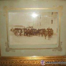 Fotografía antigua: ZARAGOZA MILITARES INTENDENCIA FORMADOS PARA MANIOBRAS FOTOGRAFO CONSTANTINO GRACIA COSO HACIA 1890 . Lote 46381026