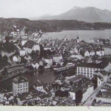 Fotografía antigua: SUIZA CIRCA 1890 LUCERNA VISTA DE LA CIUDAD * AMPLIO TAMAÑO DE 27 CM X 20 M. Lote 46410723