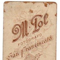 Fotografía antigua: FOTOGRAFIA DEL FOTOGRAFO M. POL. SAN FRANCISCO. CADIZ.. Lote 46420244
