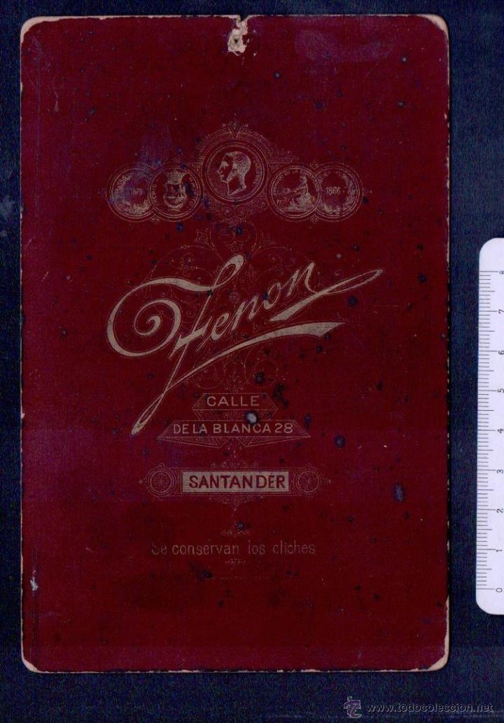 Fotografía antigua: Santander.Fotografia antigua.Zenon.Tamaño: 16 x 10 ctms. - Foto 2 - 46493979