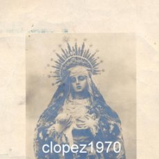 Fotografía antigua: SEMANA SANTA DE SEVILLA, SIGLO XIX, ALBUMINA VIRGEN DE LOS DOLORES, CONVENTO DE CAPUCHINOS,LEER. Lote 46512326