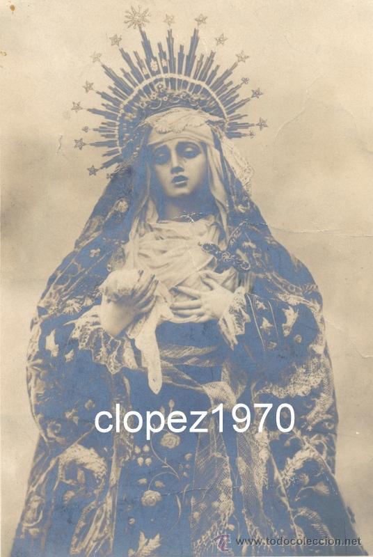 Fotografía antigua: SEMANA SANTA DE SEVILLA, SIGLO XIX, ALBUMINA VIRGEN DE LOS DOLORES, CONVENTO DE CAPUCHINOS,LEER - Foto 2 - 46512326
