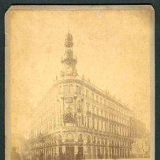 Fotografía antigua: MADRID. EDIFICIO DE LA EQUITATIVA. BONITA IMAGEN. C. 1895. Lote 46607050
