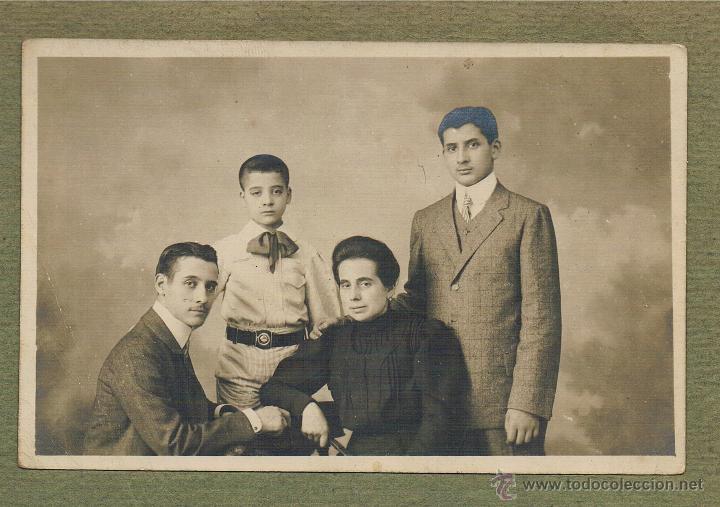 RETRATO DE FAMILIA. PRINCIPIOS S. XX (Fotografía Antigua - Albúmina)