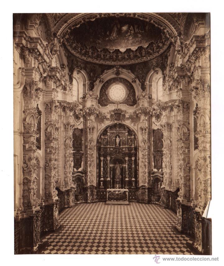 GRANADA, IGLESIA POR IDENTIFICAR, S.XIX. FOTO ATRIBUÏDA A GARZÓN, 20X24,5 CM. (Fotografía Antigua - Albúmina)