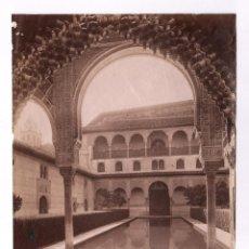 Fotografia antica: GRANADA, Nº210, ALHAMBRA, PATIO DE LOS ARRAYANES, FOTO: GARZÓN, S.XIX. 16X20 CM.. Lote 46779273