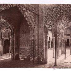 Fotografía antigua: GRANADA, ALHAMBRA, VISTA DE LA SALA DE LA JUSTICIA, SIN DATOS. S.XIX. 16X20 CM.. Lote 46782207