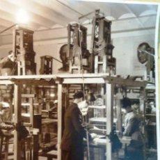 Fotografía antigua - Foto tamaño grande 22/29 cm fábrica textil Imagen Jose Antonio Franco telares obreros niños1943 - 46980722