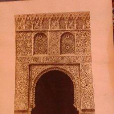 Fotografía antigua: FOTOGRAFIA DE CHARLES CLIFFORD Nº 78 LA ALHAMBRA. ENTRADA A LA SALA DE LINDAJARA. SELLO EN SECO.. Lote 47286208