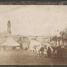 Fotografía antigua: CALAF - MANIOBRAS MILITARES - NUM 48- FOTOGRAFIA ARTISTICA - ALBUMINA MIDE 16 X 22 CM.-(F-873. Lote 47291105