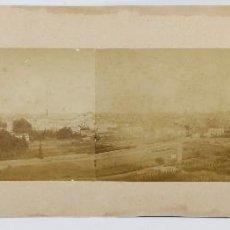 Fotografía antigua: FIGUERAS, PROV. DE GIRONA, 1880'S. GRAN PANORÁMICA 69 CM DE LARGO X 16 CM ANCHO. SOPORTE: 75X26 CM.. Lote 47452187
