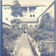 Fotografía antigua: GRANADA,SIGLO XIX, ALBUMINA, LA ALHAMBRA, PATIO DE LA ACEQUIA, 145X90MM. Lote 47463279