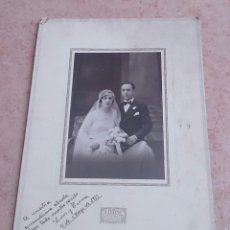 Fotografía antigua: FOTOGRAFÍA ANTIGUA DE BODA EN LA EPOCA MODERNISTA ( FOTOGRAFO J. ALONSO, BARCELONA ) , AÑO 1931 .. Lote 47472363