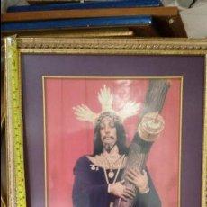 Fotografía antigua: MARCO CON FOTOGAFIA RELIGIOSA CRISTO NAZARENO DE CADIZ - SEMANA SANTA. Lote 47604681