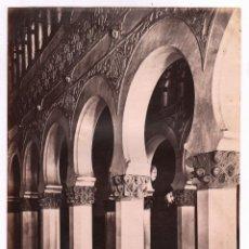 Fotografía antigua: TOLEDO, 291 BIS. INTERIOR STA. MARÍA LA BLANCA, FOTO: LAURENT, MADRID. 25X33,5 CM.. Lote 47655164