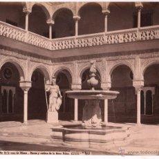 Fotografía antigua: SEVILLA, 1409. PATIO DE LA CASA PILATOS, FOTO: LAURENT, MADRID. 33,5X25 CM.. Lote 47655445