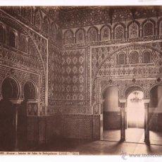 Fotografía antigua: SEVILLA, 1388. ALCÁZAR, SALÓN EMBAJADORES, FOTO: LAURENT. 33X25 CM.. Lote 47655521
