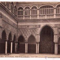 Fotografía antigua: SEVILLA, 1382. ALCÁZAR, PATIO DE LAS DONCELLAS, FOTO: LAURENT. MADRID. 33,5X25CM.. Lote 47655582