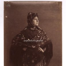 Fotografía antigua: RETRATO FEMENINO, TEXTO: TIPO FLAMENCO, FOTO: AYOLA, GRANADA. 1880S APROX. 15X21,5CM.. Lote 47694332