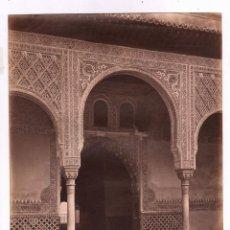 Fotografía antigua: GRANADA, 236. ENTRADA DE LA SALA DE EMBAJADORES, ALHAMBRA. FOTO: LAURENT 33,5X25CM.. Lote 47712714